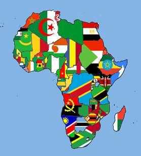 Afrique drapeaux