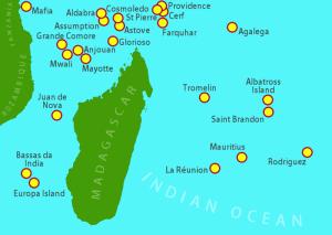 Les îles autour de Madagascar