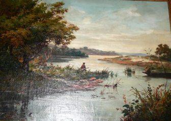 """Ratovo Henri. (1881-1929 ) """"Famintanana"""" (Lieu de pêche ) Collection Maso Donque."""
