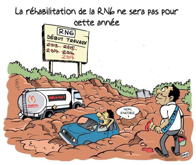 La RN6.  le dessin de Nino http://dlvr.it/KpSHqM