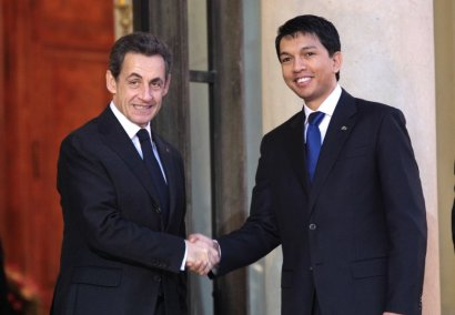 Sarkozy et Rajoelina