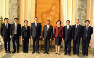 Délegation chinoise chez Rajao