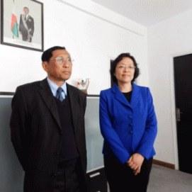 Ministra gasy sy ambasadaoro sinoa
