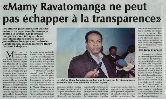 Mamy Ravatomanga Panama Papers